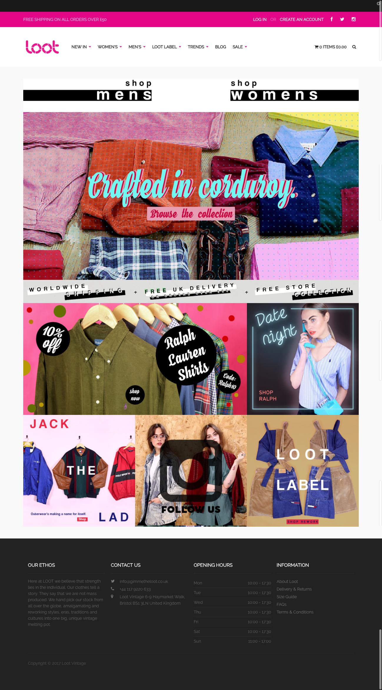 Loot Vintage Website